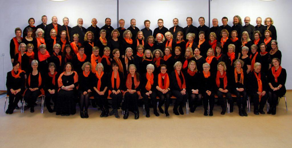 Die Mitglieder des gemischten Chores TonArt Grundhof